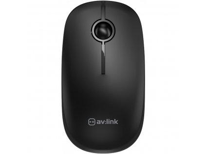 AV:Link 2.4G Bezdrátová myš s USB, černá