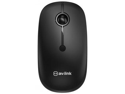 AV:Link 2.4G Bezdrátová myš s Bluetooth, černá
