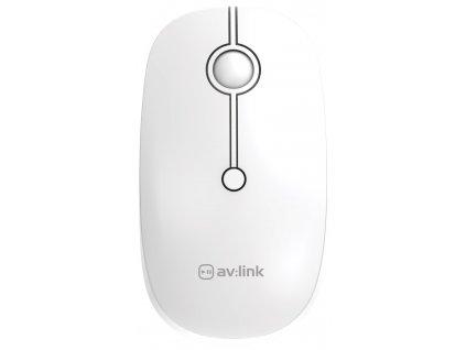 AV:Link 2.4G Bezdrátová myš s Bluetooth, bílá