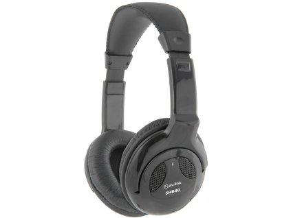 AV:link SHB40II stereo Hi-Fi sluchátka, černá