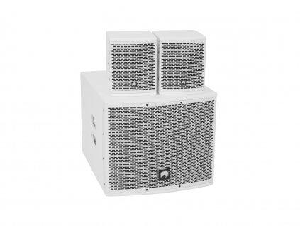 OMNITRONIC Set MOLLY-12A + 2x MOLLY-6 Top, 760 W, bílý