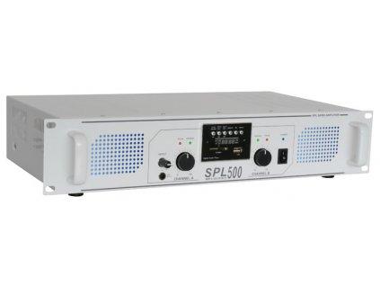Skytec SPL 500MP3, stereo zesilovač, MP3/SD/USB, 2x 85W, bílý