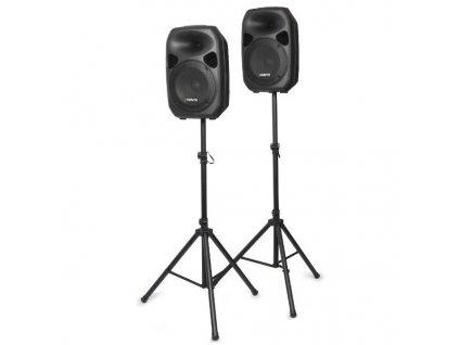 """Vonyx Party Speaker Set, 2x 12"""" reproduktor se stojanem"""