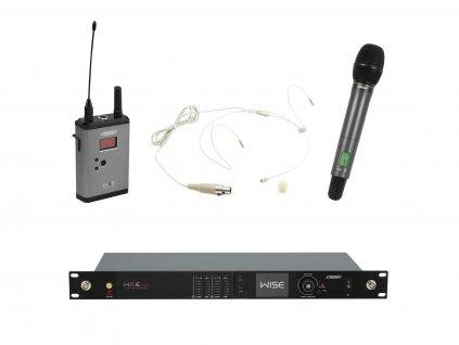 PSSO Set WISE TWO, 2-kanálový přijímač + vysílač + ruční a náhlavní mikrofon 518 - 548 MHz