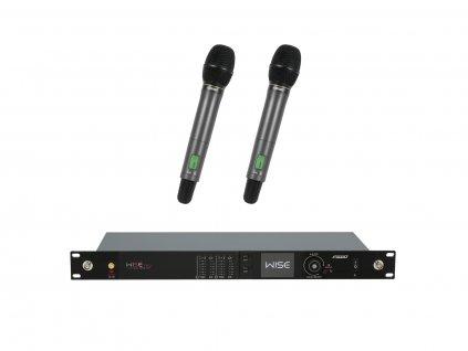 PSSO Set WISE TWO, 2-kanálový přijímač + 2x dynamický ruční mikrofon 638 - 668 MHz