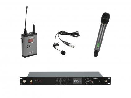 PSSO Set WISE TWO, 2-kanálový přijímač + vysílač + ruční a klopový mikrofon 638 - 668 MHz