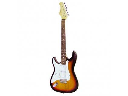 Dimavery ST-203, elektrická kytara levoruká, sunburst