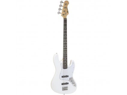 Dimavery JB-302, elektrická baskytara, bílá