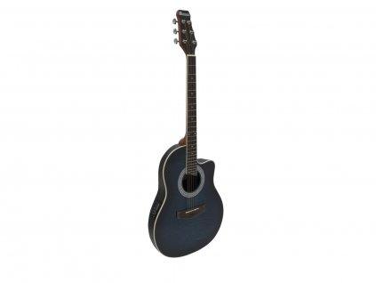 Dimavery RB-300, elektroakustická kytara typu Ovation, blueburst žíhaná