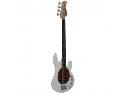 Dimavery MM-501, elektrická baskytara, bílá