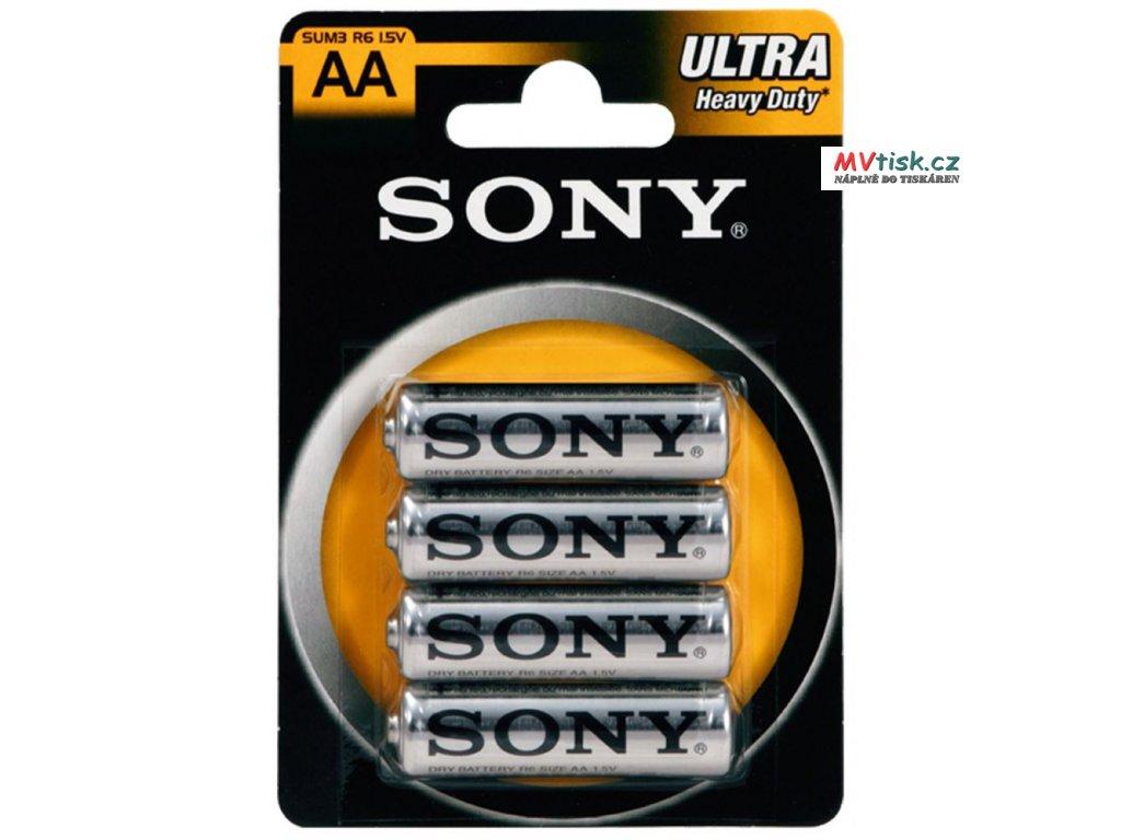 SONY Baterie tužkové SUM3NUB4A, 4ks R6 AA ULTRA