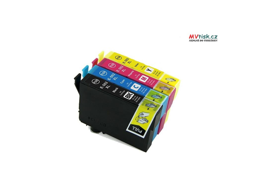 kit 4 cartucce compatibili epson t502xl bk c m y