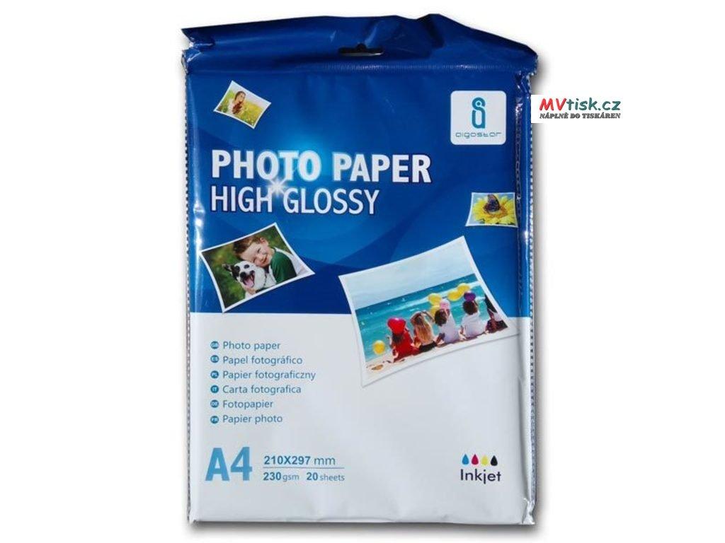 Fotopapír lesklý A4 - 240g (20listů)  Fotopapír lesklý A4 - 240g
