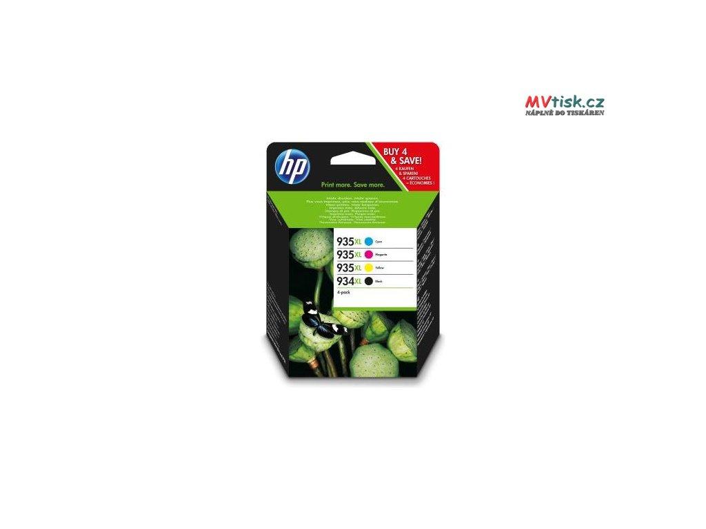 Originální cartridge HP 934XL + HP 935XL, HP X4E14AE, 4 Pack
