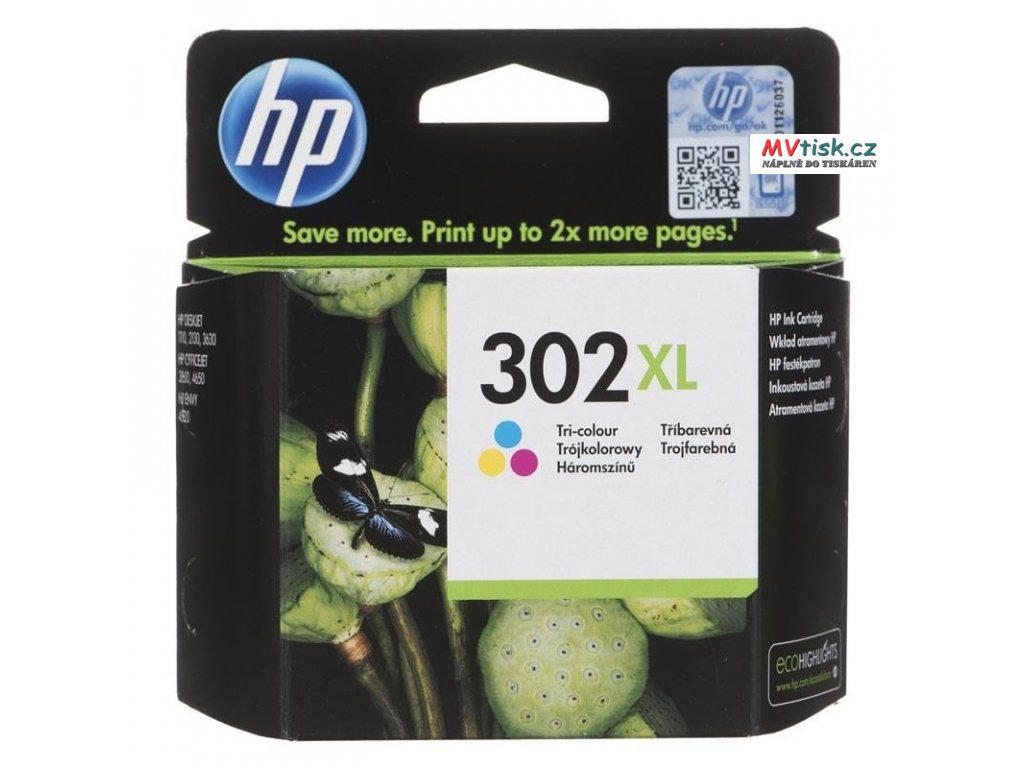 ink hp f6u67ae original hp302xl hp 302xl 8 ml multicolor