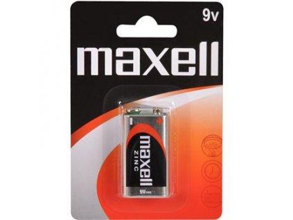 MAXELL 6F22 1BP zinko-manganová baterie, 9V, 1ks