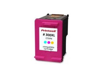 cc644ee no 300xl kompatibilni inkoustova kazeta barva naplne azurova purpurova zluta 600 stran i83813