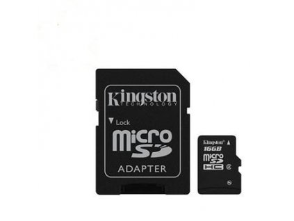 microSD 16GB Kingston HC card class 10 s adaptérem SD