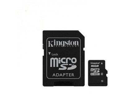 microSD 16GB Kingston HC card class 10 s adaptérem SD