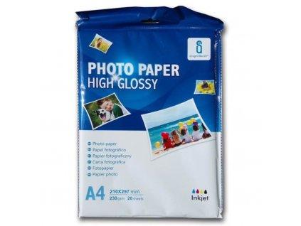 Fotopapír lesklý A4 - 230g (20listů)