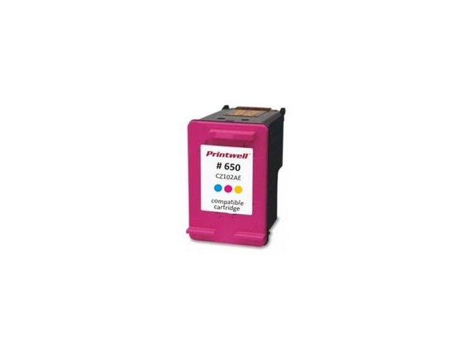 cz102ae no 650 xl color inkoustova kazeta new chip barva naplne azurova purpurova zluta 720 stran i140627