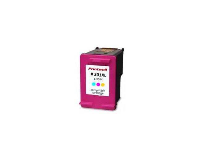 ch564ee no 301 xl inkoustova kazeta new chip barva naplne azurova purpurova zluta 330 stran i125177