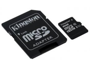microSD karta, kapacita 8 GB, Class 4, s adaptérem SD