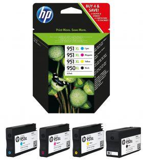 HP C2P43AE Originální sada kazet multi pack 4ks HP 950XL + HP 951XL (cyan/magenta/yellow/black) 1500/2300 stran HP C2P43AE Originální sada kazet multi pack 4ks HP 950XL + HP 951XL (cyan/magenta/yellow/black) 1500/2300 stran pro tiskárny HP