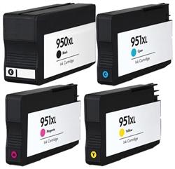 HP 950XL-951XL - kompatibilní sada 4ks CMYK 2300 stran + 3x1500 stran HP 950XL-951XL - kompatibilní sada do tiskáren HP HP OfficeJet Pro 8100, 8600 Plus premium, 276dw