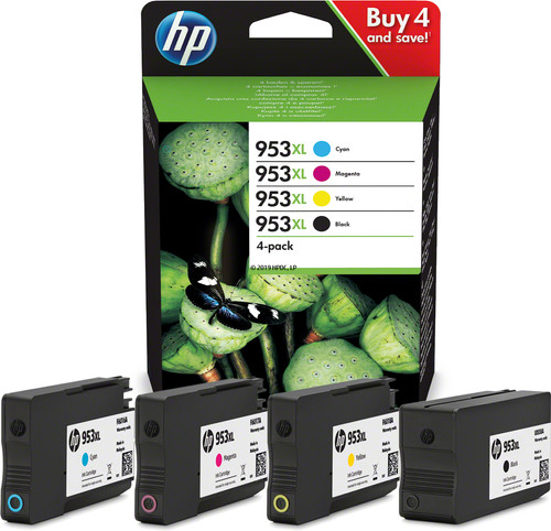 HP 3HZ52AE - originální inkoustové kazety 4-pack HP 953XL ( černá, azurová, purpurová, žlutá ) 1x2000 + 3x1600 stran