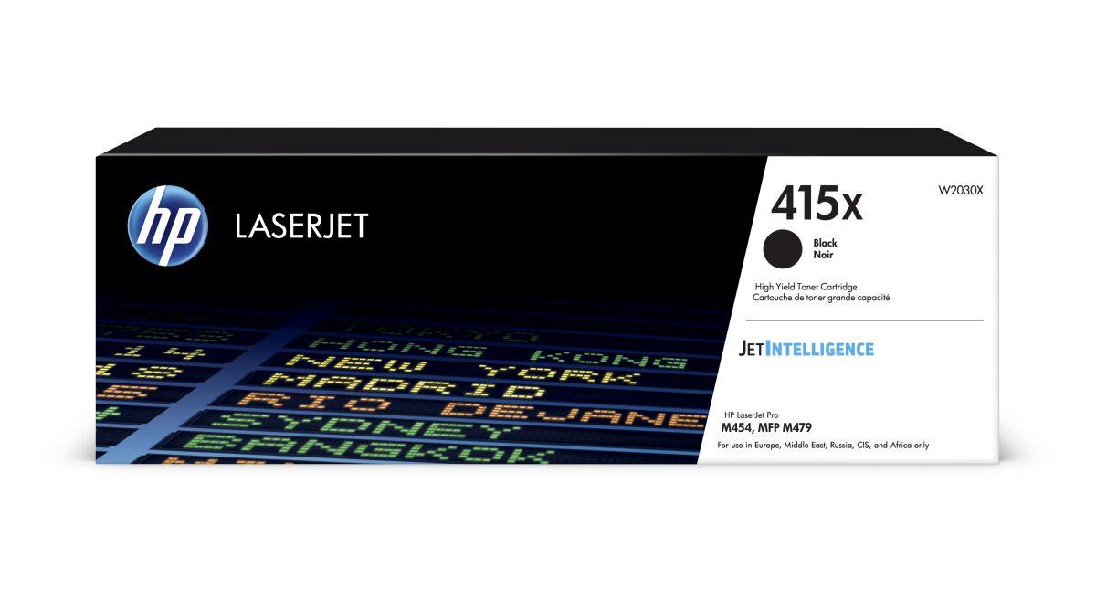 HP W2030X - originální tonerová kazeta č. 415X černá 7500 stran HP W2030X - originální tonerová kazeta č. 415X černá do tiskáren HP LaserJet Pro M454, MFP M479