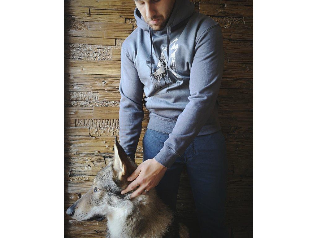 Pánská mikina s motivem vlka  14e23c5d09