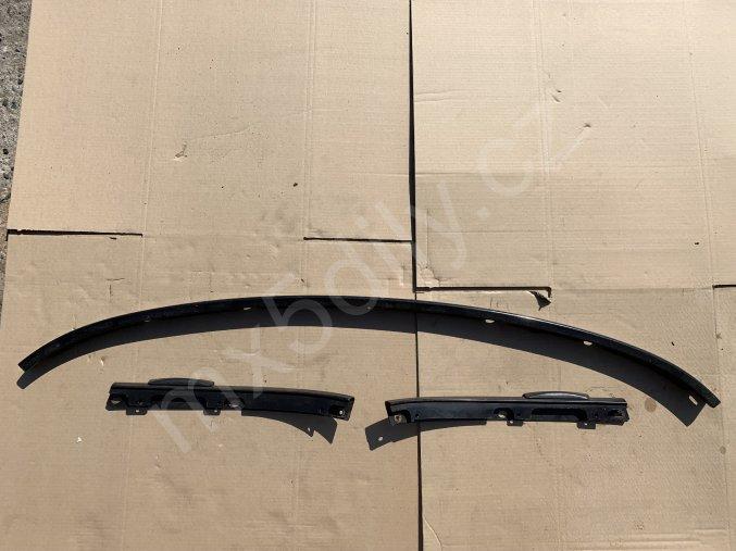 Uchycení střechy - zadní plechová lišta set 3ks