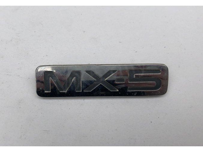 """Nápis """"MX-5"""" zadní NB"""