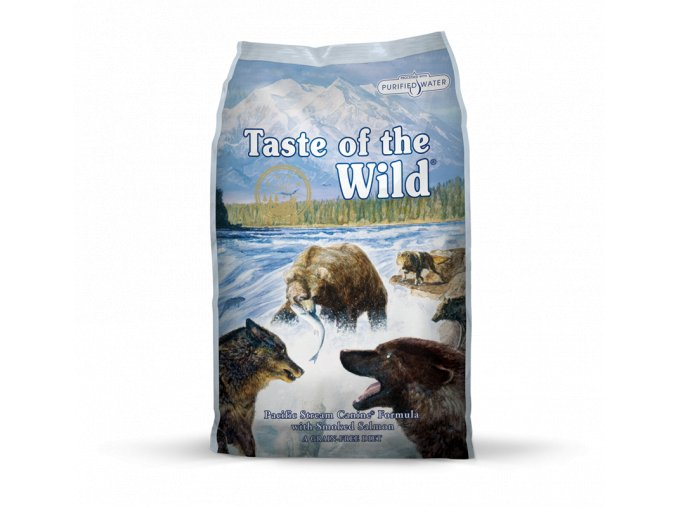 taste of the wild pacific stream canine pro dospele psy s prichuti uzeneho lososa