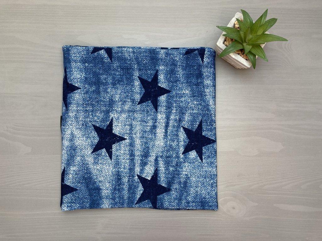 Nákrčník BLUE JEANS STARS
