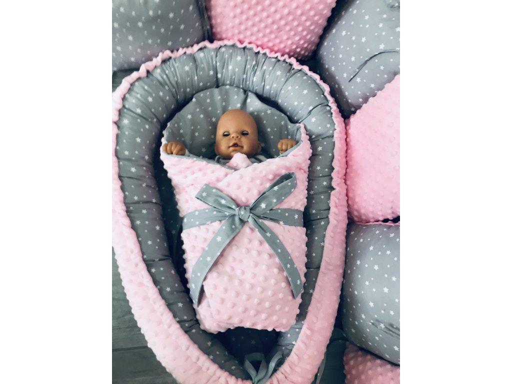 Hnízdečko pro miminko kombinace 100% bavlny a jemné minky (na zakázku)
