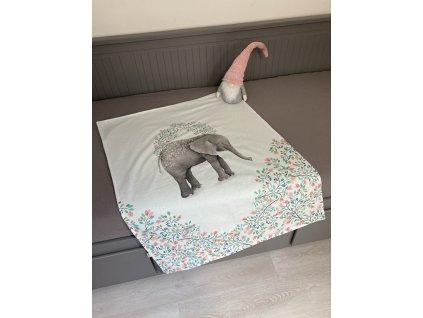 Deka - malovaný slon