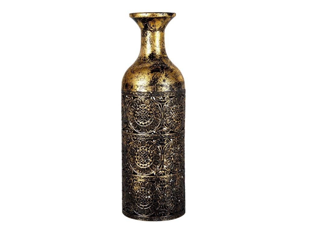 zlata dekoracni vaza s patinou se vzorem joslin o 1239 cm