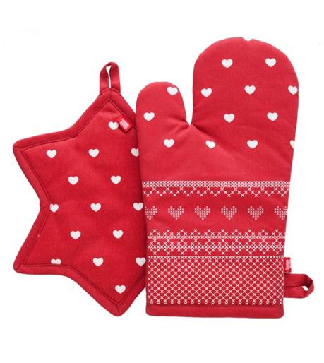 Vánoční chňapky, zástěry, kuchyňské ručníky a utěrky, ubrusy