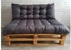 Paletový prošívaný sedák 120x80 cm