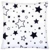 Bavlněný polštář BLACK WHITE STARS 40x40 cm, Mybesthome