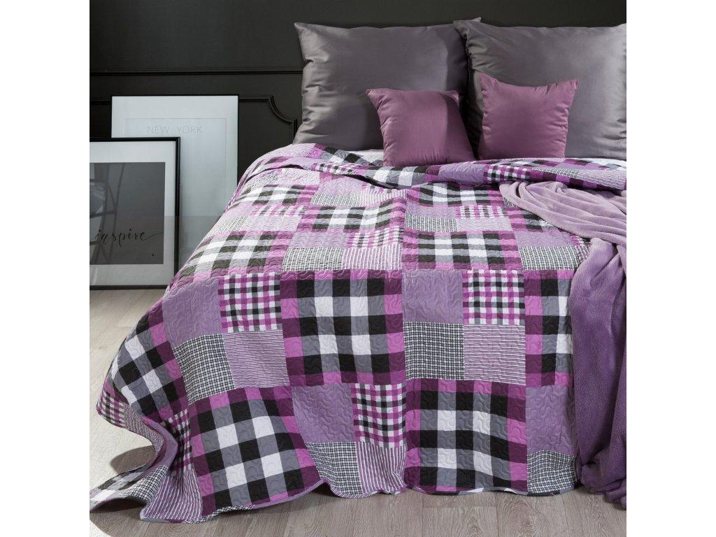 Přehoz na postel RUUT 220x240 cm růžová Mybesthome