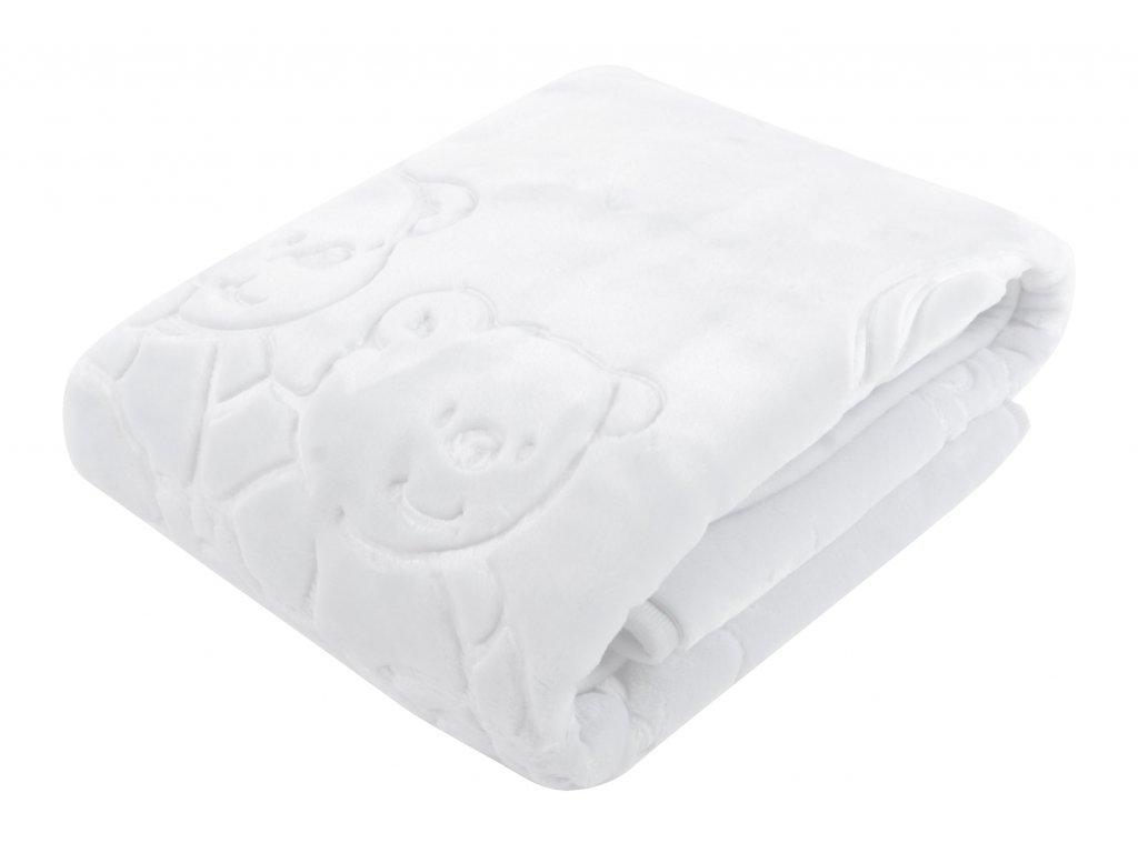 Dětská deka MARIBEL bílá 80x110 cm španělská akrylová deka Mybesthome