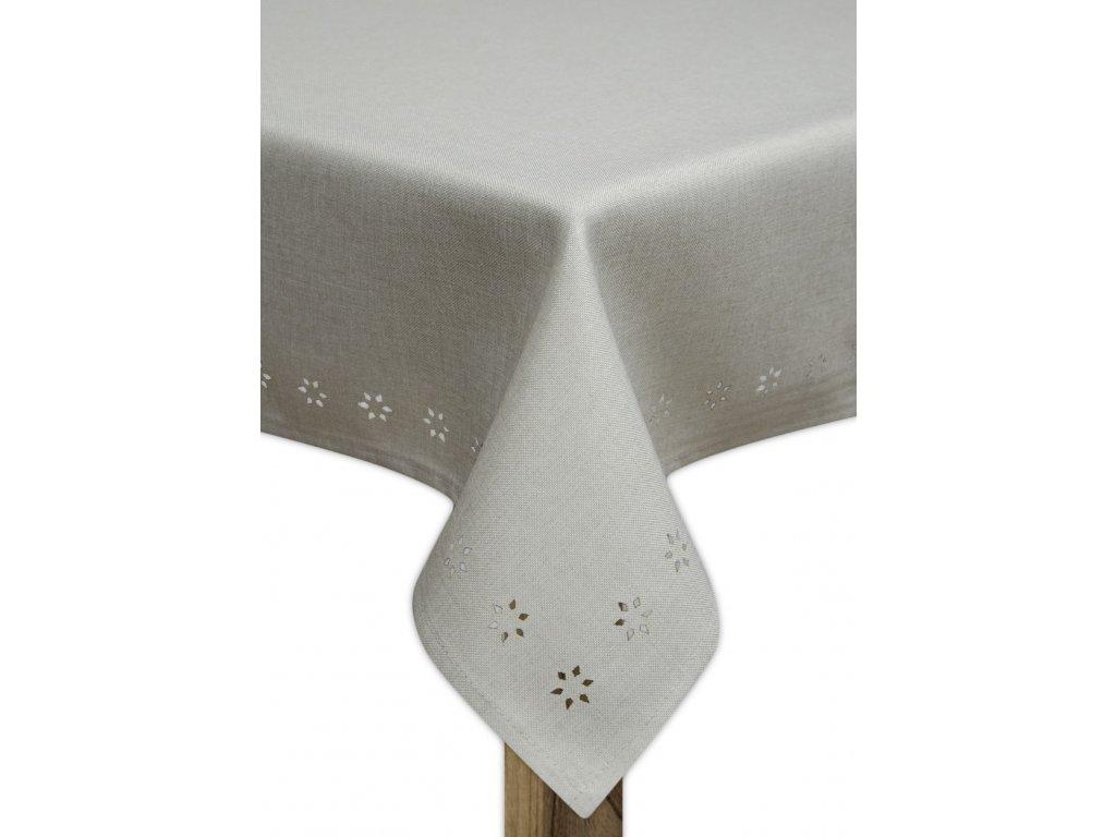 Ubrus EDITH design B, 80x80, 110x160, 130x180 cm, šedá, ESSEX