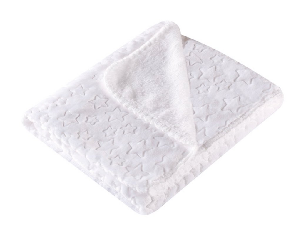 Dětská deka s hvězdičkami SURI SURI bílá 80x90 cm Mybesthome