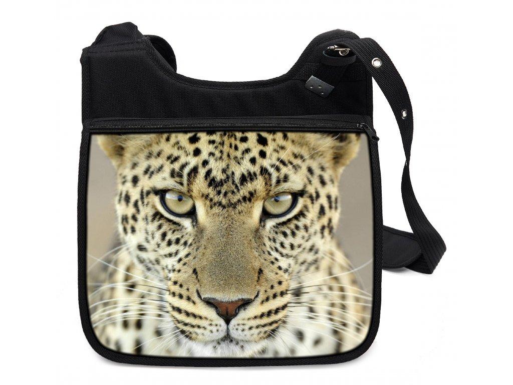 Moderní stylová taška přes rameno s kvalitním potiskem motivu jaguára. 671f5609ba