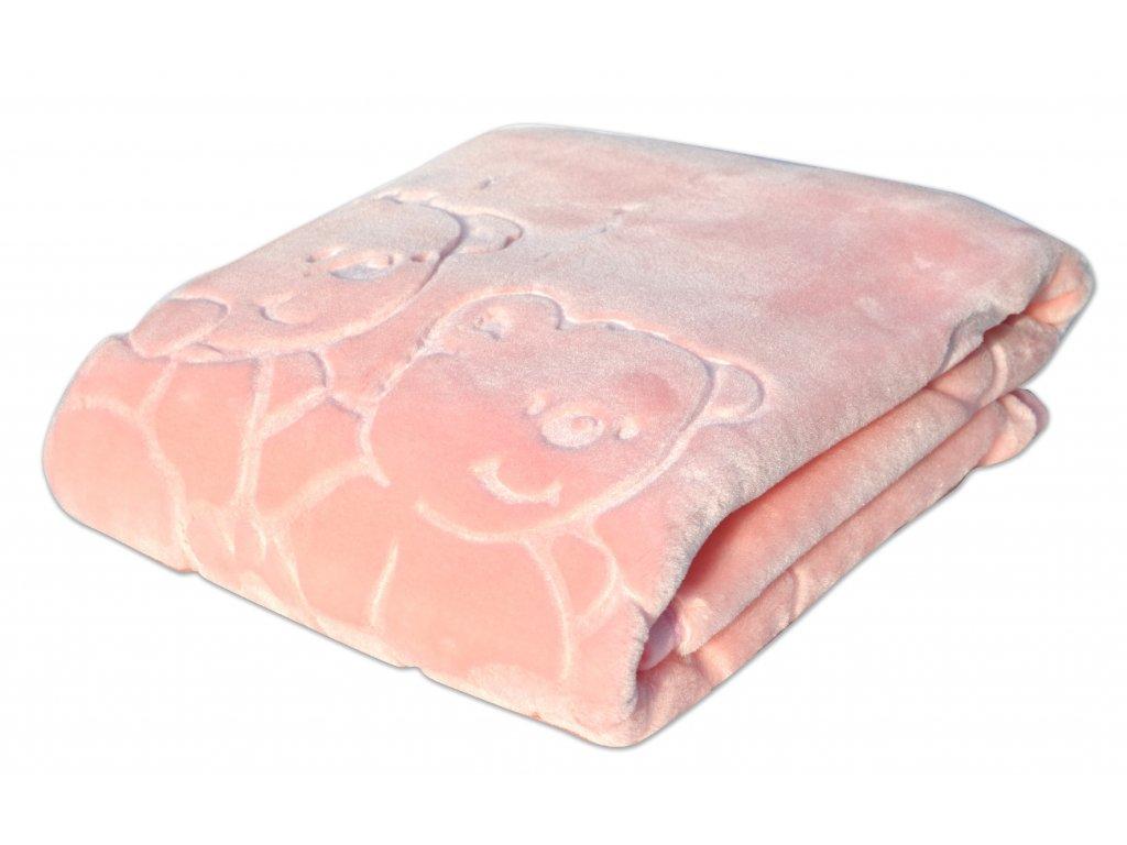 Dětská deka MARIBEL růžová 80x110 cm španělská akrylová deka Mybesthome
