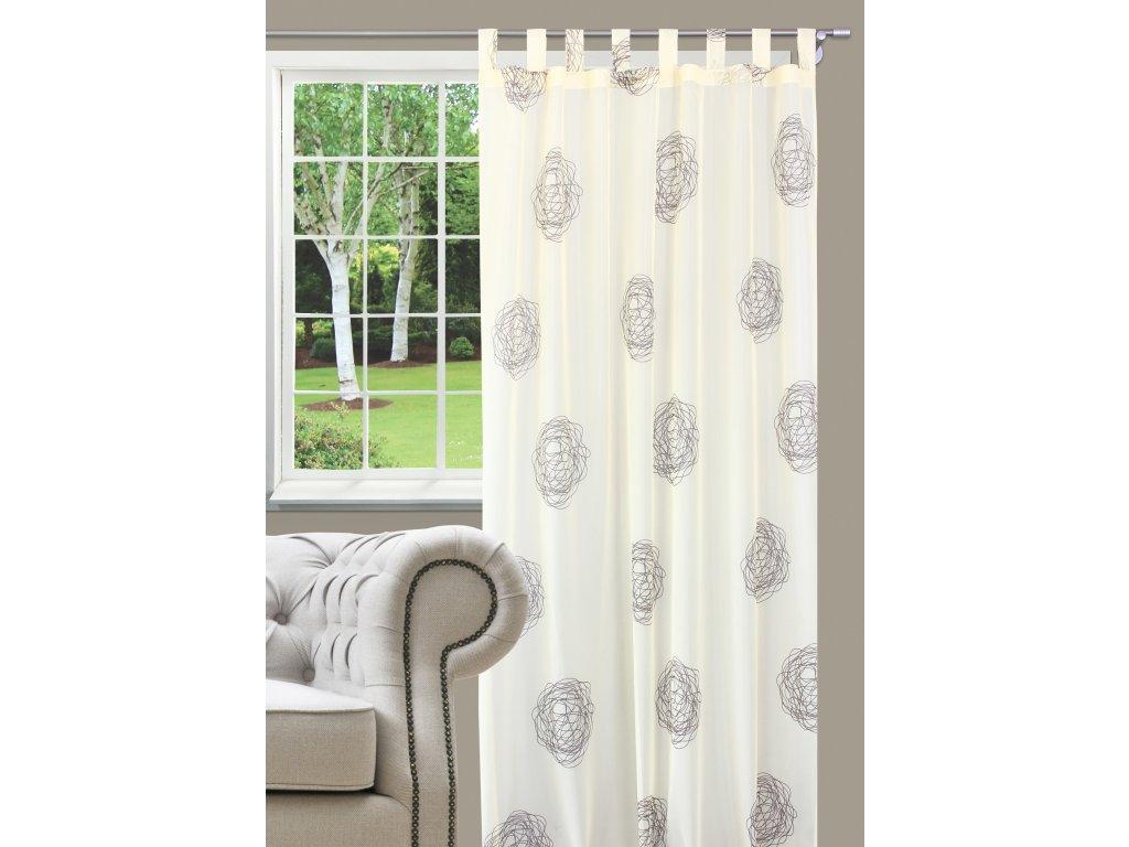 Dekorační záclona NEBRASKA smetanová 140x245 cm MyBestHome