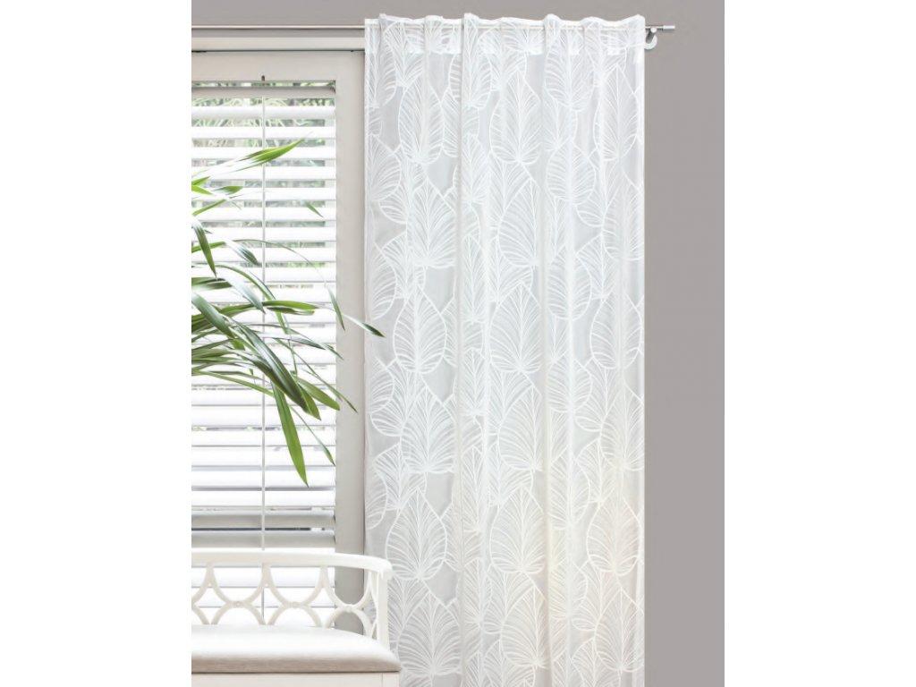 Dekorační záclona MONO bílá 140x245 cm MyBestHome